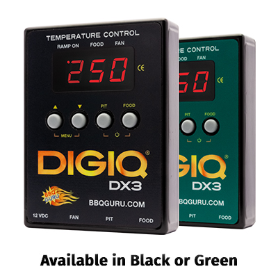 DigiQ DX3 BBQ Temperature Control Black Custom Grill (6 ft Probes)