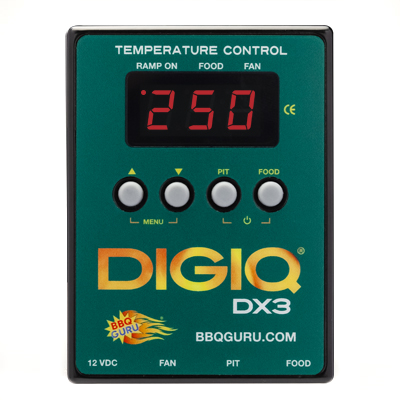 DigiQ DX3 BBQ Temperature Control Green Custom Grill (6 ft Probes)