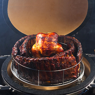 Rib Rings® - The Extreme Rib Rack and Chicken Roaster