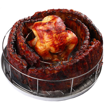 Rib Rings - The Extreme Rib Rack and Chicken Roaster