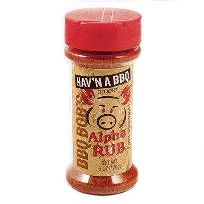 BBQ Bob's Hav'N a BBQ: Alpha Barbecue Rub 6 oz