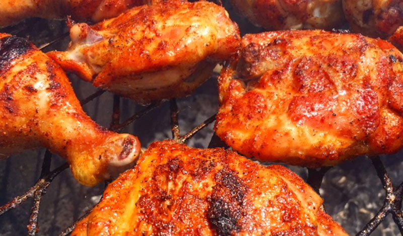 Crispy Grilled Chicken Thighs