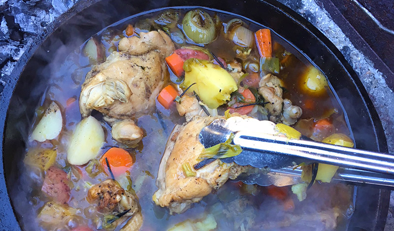 Chicken Thigh Stew (Dutch Oven)