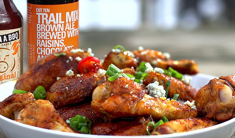 Alpha Wings with Flying Fish Beer Sauce