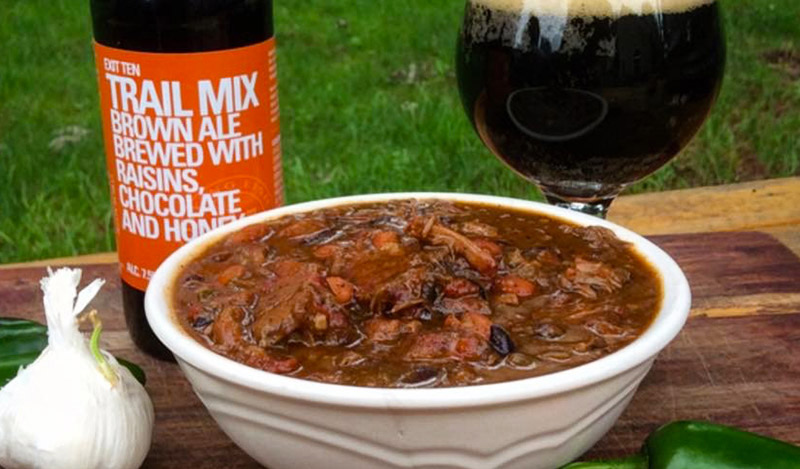 Smoked Brisket Chili with Flying Fish beer