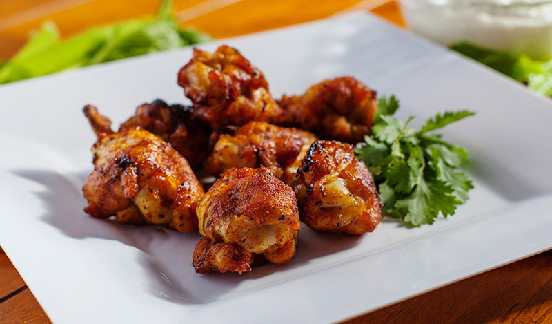 No Huddle Dry Rub Chicken Wings