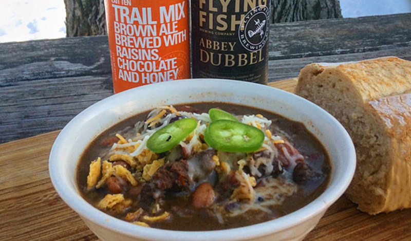 Venison Chili with Flying Fish Beer