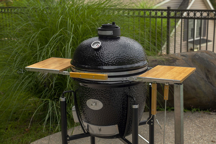 monolith bbq guru edition classic cooker with dynaq and 3 food probes monolith bbq guru edition classic